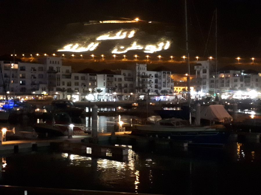 Agadir marina and castle