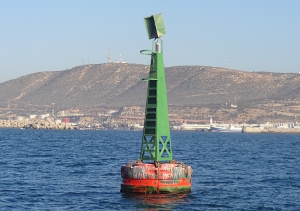 buoy seen at the entrance to Agadir
