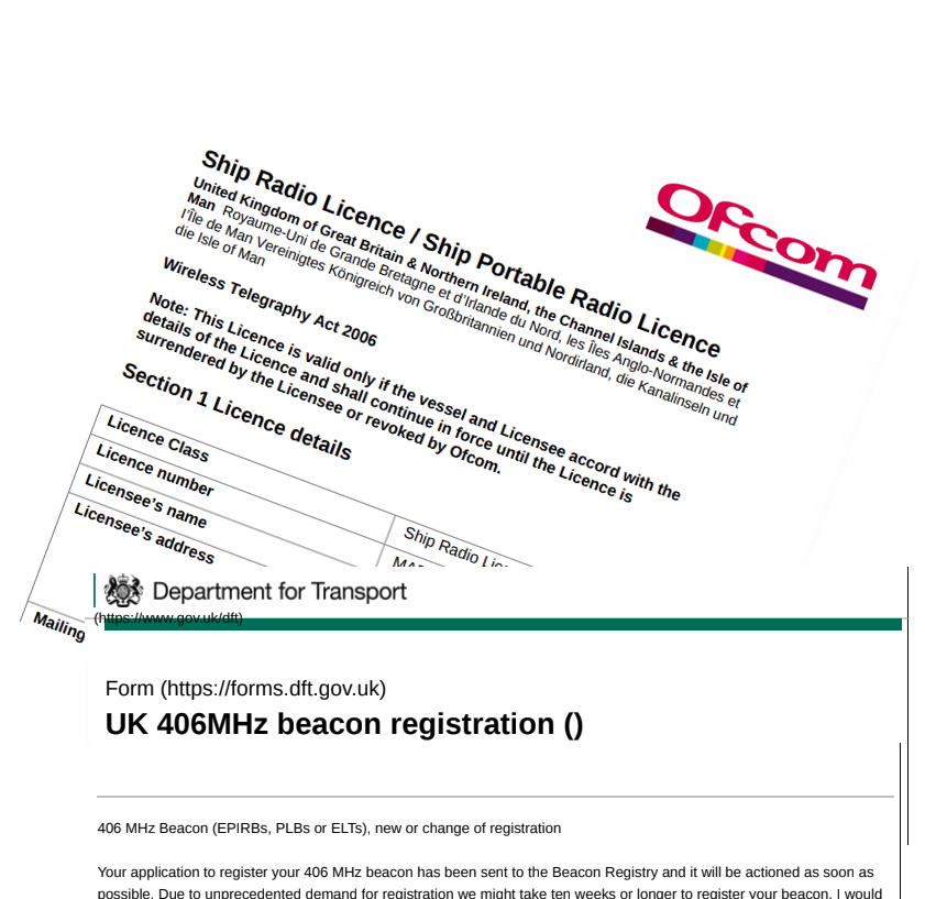 Ship radio license and EPIRB registration